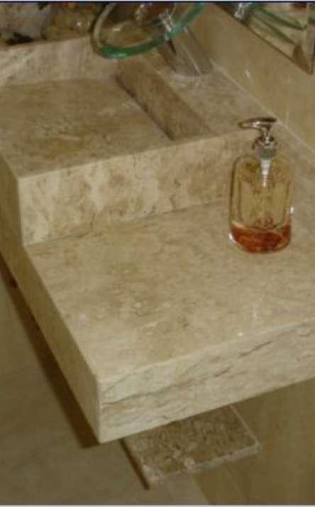 Banheiros em granito e mármore - Foto: 16