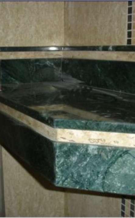 Banheiros em granito e mármore - Foto: 35