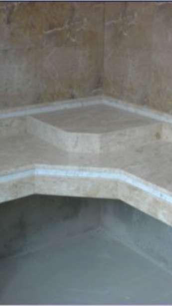 Foto: Banheiros em granito e mármore