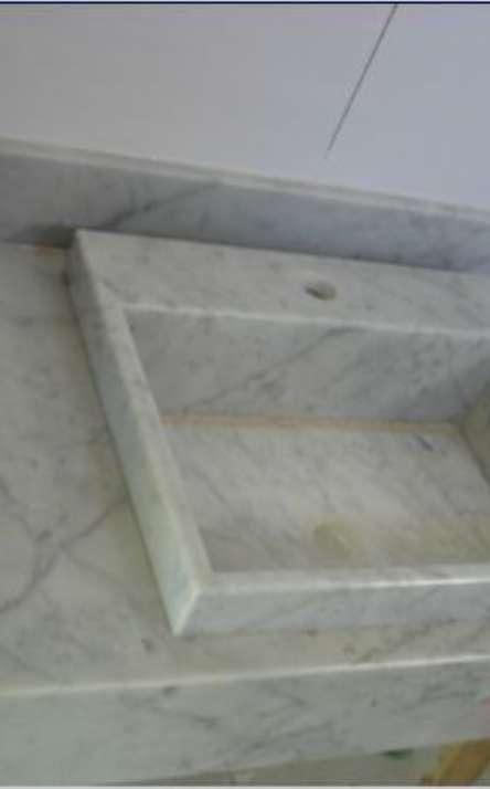 Banheiros em granito e mármore - Foto: 26