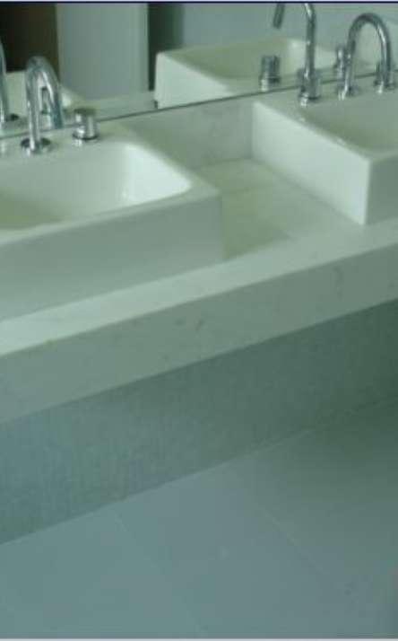 Banheiros em granito e mármore - Foto: 38